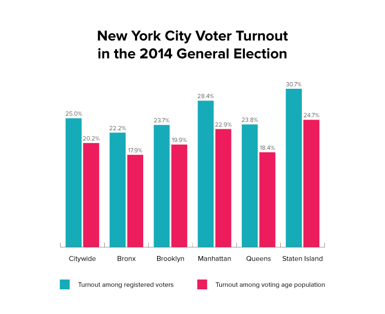 New York City Voter Turnout in the 2014 General Election