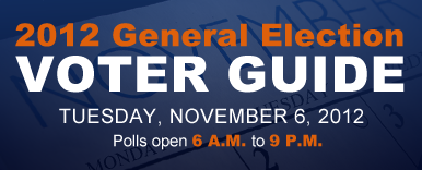 2012 General Election: Tuesday, November 6