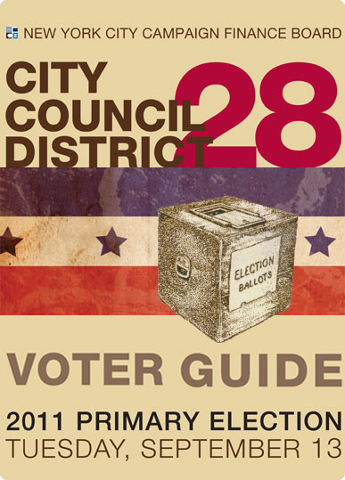 2011 Primary Election Voter Guide cover