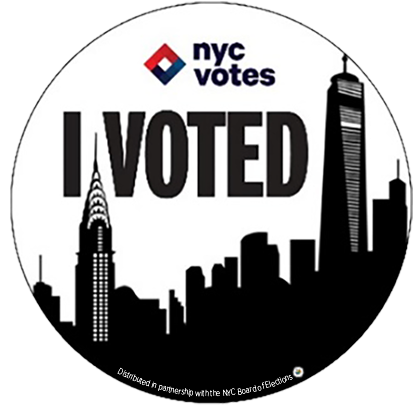 Thanks Nyc Transparent White Sticker